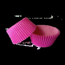 Mini muffin kapszli vagy bonbon papír - pink színben