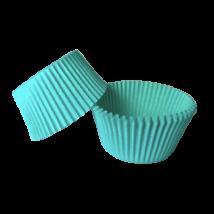 Mini muffin kapszli vagy bonbon papír – türkiz színben