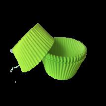 Mini muffin kapszli vagy bonbon papír - zöld színben