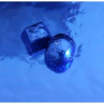 Bonbon vagy szaloncukor papír - kék, fényes