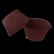 Mini muffin kapszli vagy bonbon papír - barna színben