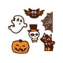 Halloween-es étcsokoládé figurák - 6 db