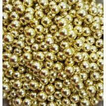 Cukorgyöngy - 8 mm metál arany