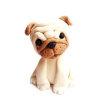Cukorfigura - Mopsz kutyus