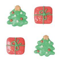 Cukor díszek - karácsonyfa, ajándék