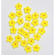 Cukorvirág - 10 db-os citromsárga színű