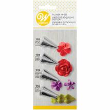 Díszítőcső szett - virág és levél 4 db-os Wilton