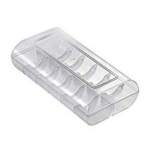 Műanyag macaron díszdoboz - 12 db-os