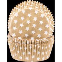 Muffin kapszli - arany csillagos