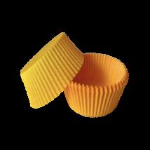 Mini muffin kapszli vagy bonbon papír - sárga színben