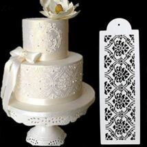 Torta stencil - barokk mintával