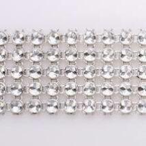 Strasszszalag - ezüst 4,5 méter