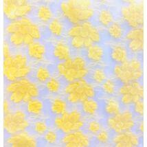Csokoládé transzfer fólia - sárga virágok