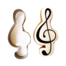 Violinkulcs sütikiszúró forma