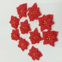 Marcipán mikulásvirág - 10 db