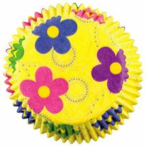 Muffin kapszlik - 50 db tavaszi virágok