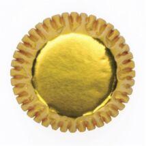 Mini bonbon vagy muffin kapszli - arany 60 db