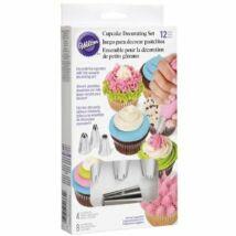 Cupcake díszítő szett - 12 db-os