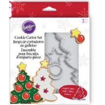 Óriás karácsonyfa sütemény kiszúró szett – Wilton
