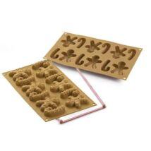Arany mézi és cukorbot szilikon sütőforma – Silikomart mini