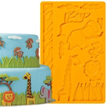 Fondant - és gum paste formázó - dzsungel állatok