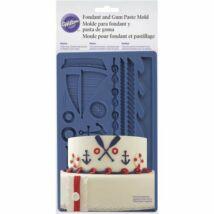 Fondant és gum paste formázó – tengerész minta