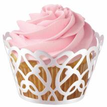 Gyöngyházfényű cupcake wrap - 18 db-os Wilton