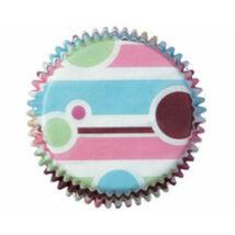 Muffin kapszli - 75 db-os buborék és vonal