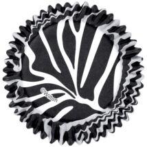 Muffin kapszli - zebra mintával