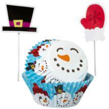 Hóemberes cupcake szett - 24 db-os szett