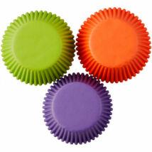 Muffin kapszli - Halloween színekben 75 db-os
