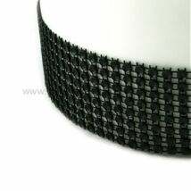 Strassz szalag - fekete 4,5 m