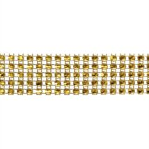 Strasszszalag - arany 4,5 méter