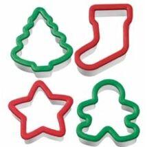 Karácsonyi biztonságos sütemény kiszúró szett - 4 db-os