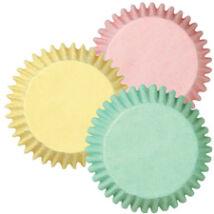 Muffin kapszlik - 75 db pasztell színekben