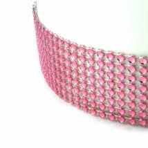 Strasszköves szalag - rózsaszín 4,5 méter