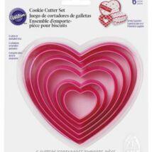 6 db-os szív kiszúró szett