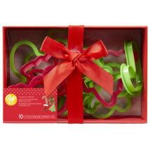 Karácsonyi kiszúró szett - 10 db-os ajándékdobozban